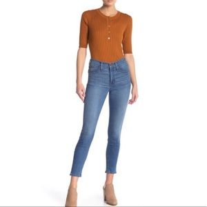 """Madewell 9"""" High Rise Skinny Crop Jeans Angelo"""